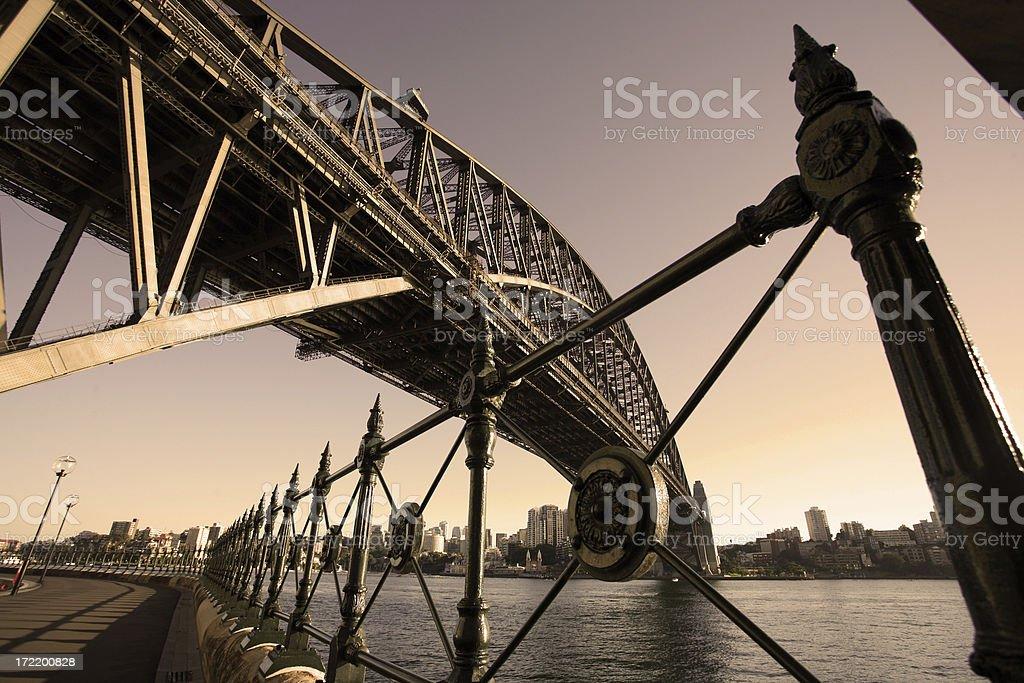 sydney bridge in the morning stock photo