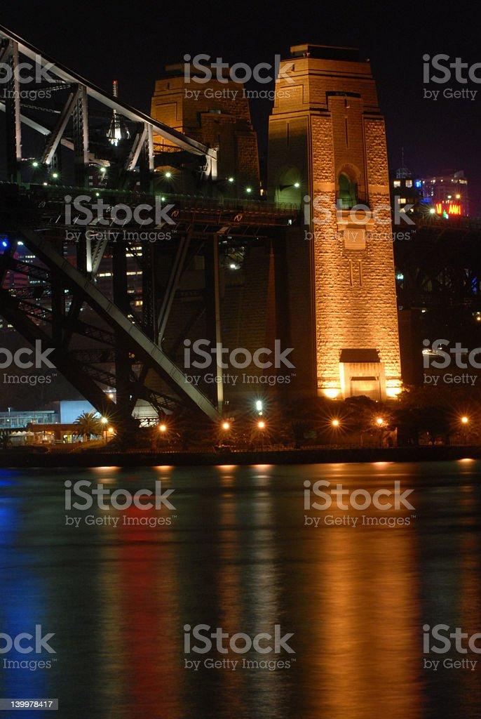 Sydney Bridge Night royalty-free stock photo