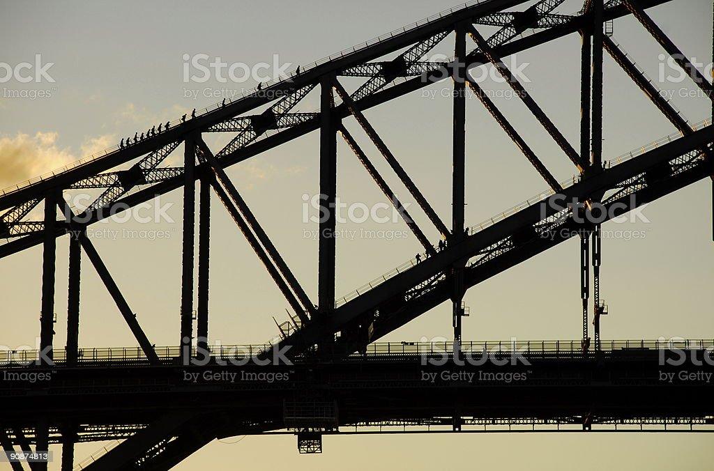 Sydney Bridge Walkers royalty-free stock photo