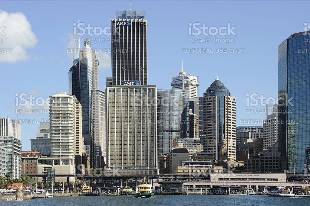 Sydney CBD and Circular Quay, Sunny Day royalty-free stock photo