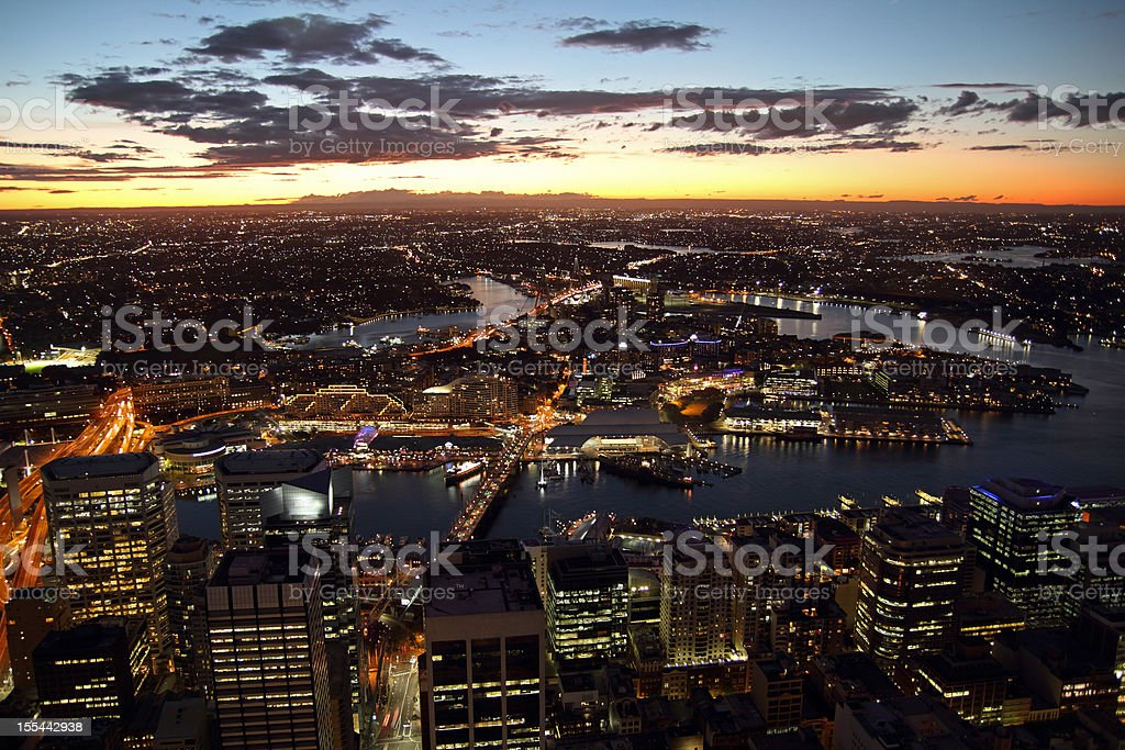 Sydney CBD and Darling Harbour royalty-free stock photo