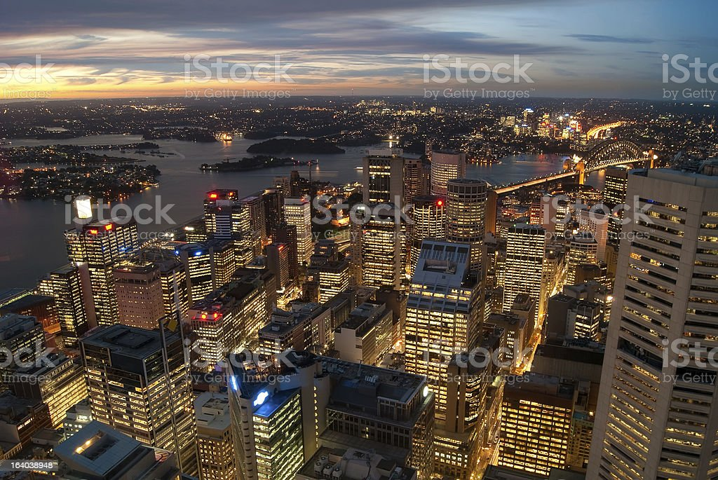 Sydney CBD from Centrepoint Tower royalty-free stock photo