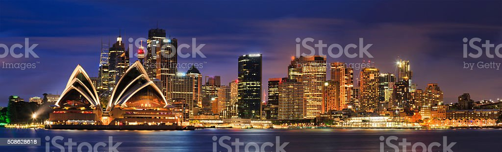 Sydney CBD From Kirribilli 3 hor stock photo