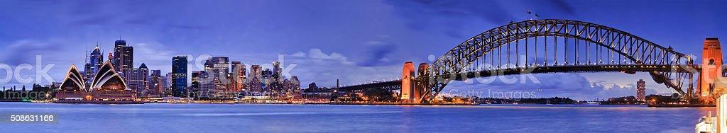 Sydney CBD From Kirribilli 5 hor stock photo
