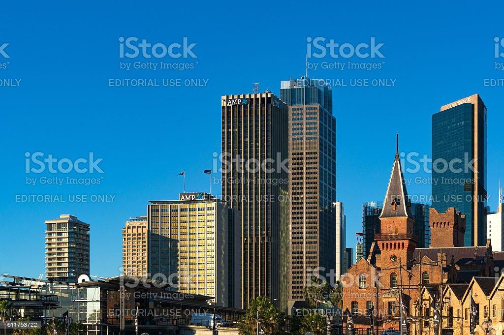 Sydney CCBD skyline with AMP building stock photo