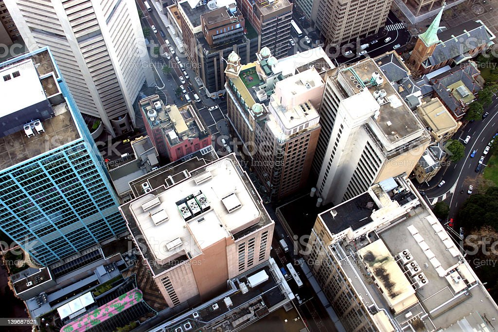 Sydney Centerpoint Tower View stock photo