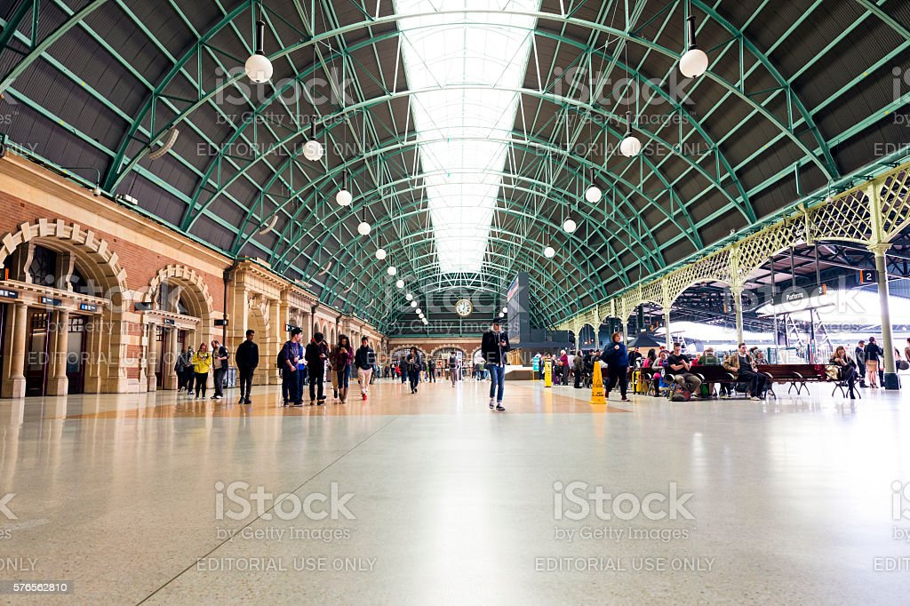 Sydney Central Railway station stock photo