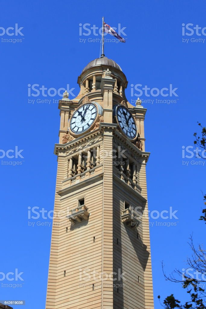Sydney Central Train Station Clock Tower stock photo