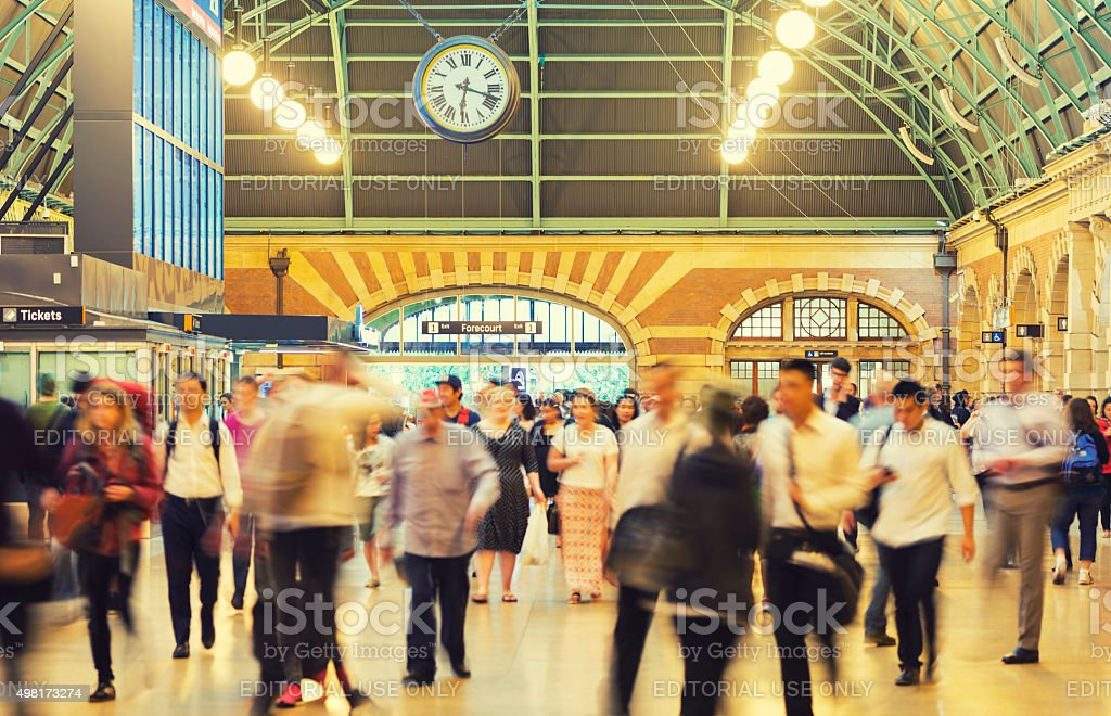 Sydney central train station stock photo