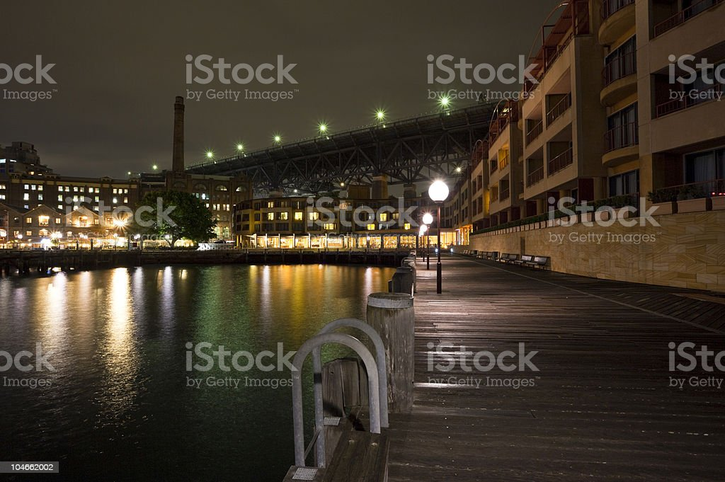 Sydney Circular Keys at night stock photo