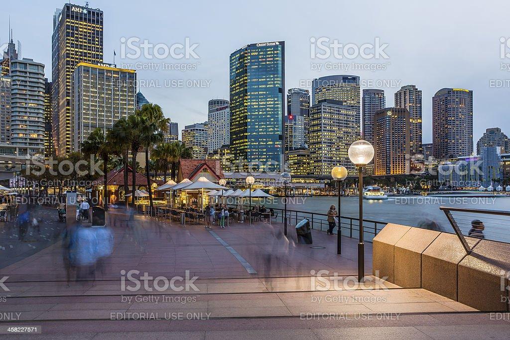 Sydney Circular Quay at Dusk. royalty-free stock photo