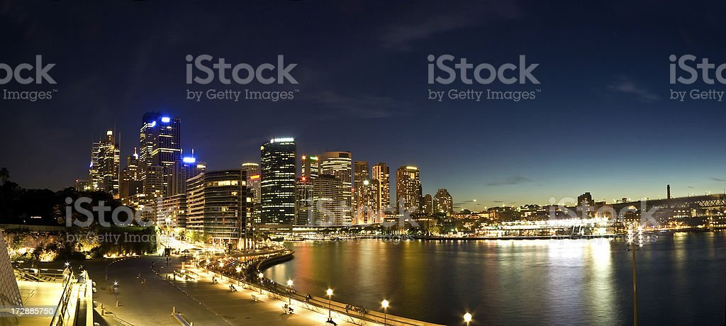 Sydney Circular Quay Panorama royalty-free stock photo