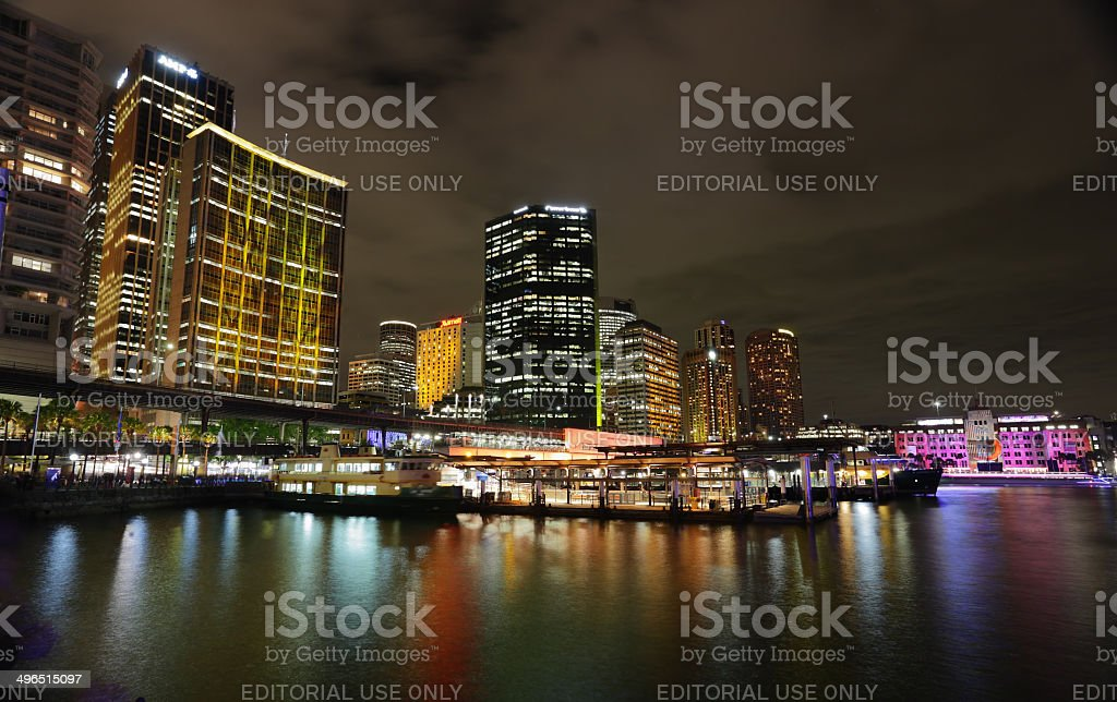 Sydney City in vibrant colour during Vivid Festival royalty-free stock photo