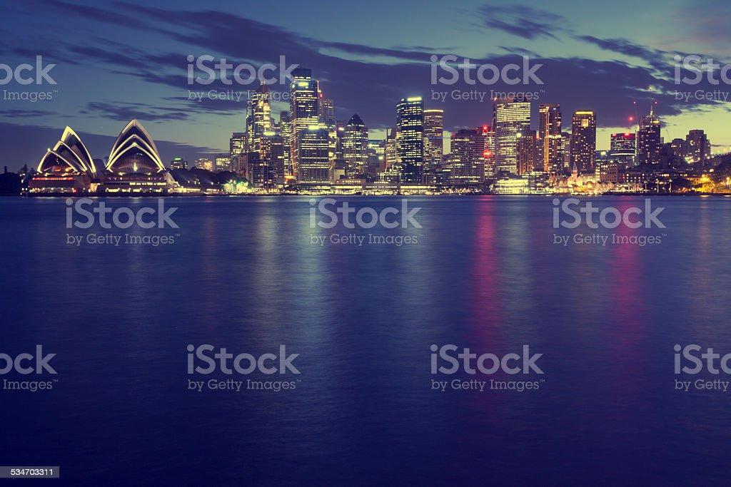 Sydney City Night stock photo
