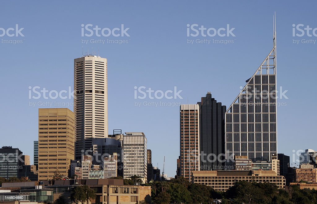Sydney City Skyline royalty-free stock photo