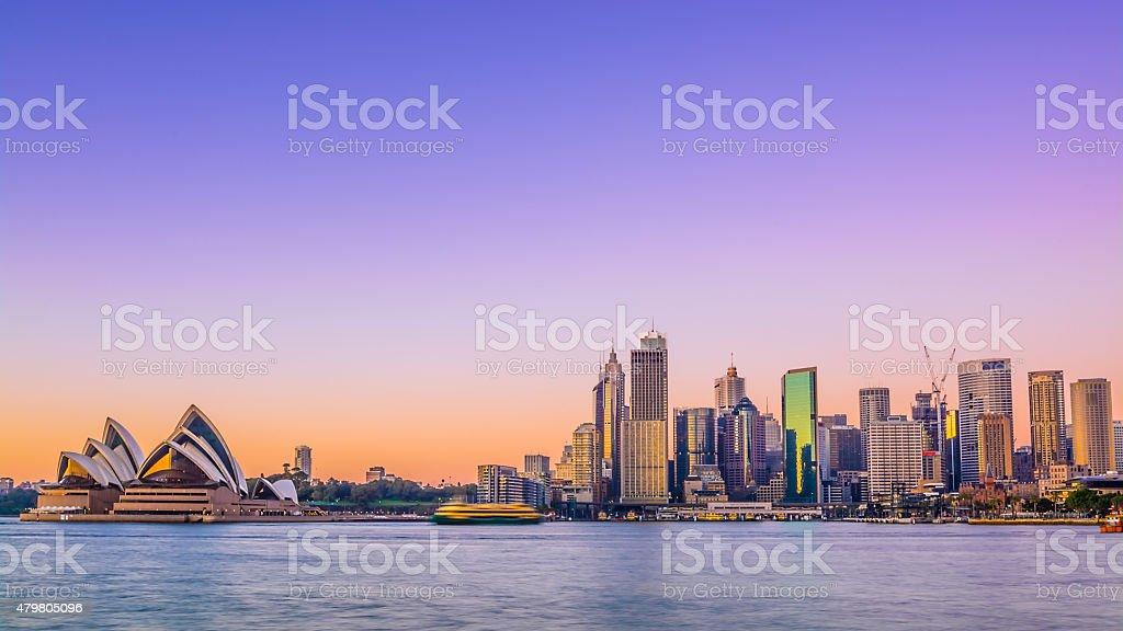 Sydney City Skyline stock photo