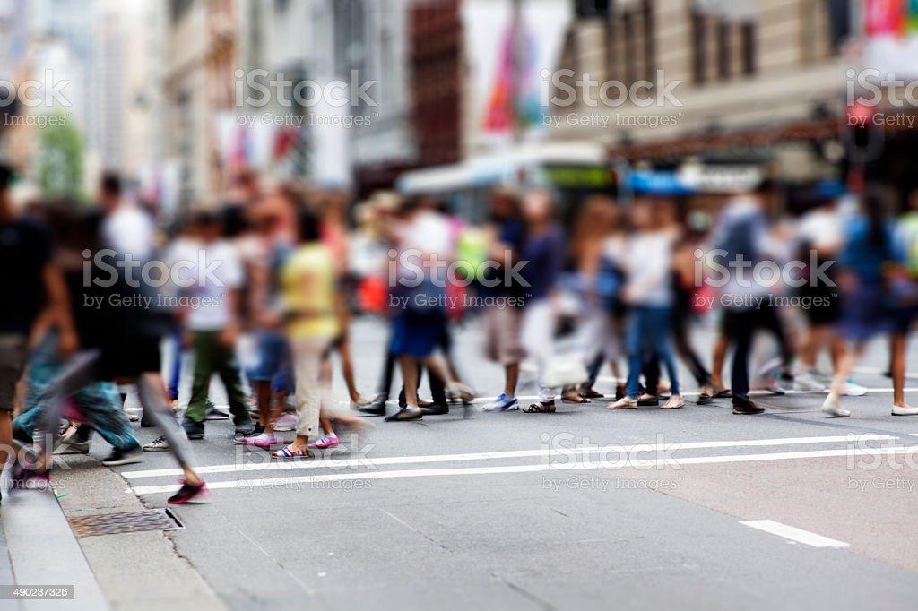 Sydney city. Street Pedestrian stock photo