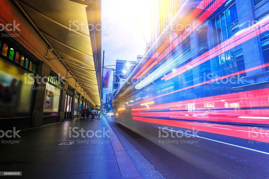 Sydney city traffic, night stock photo