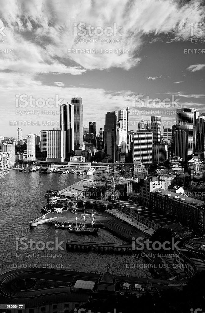 Sydney Cityscape In Black & White royalty-free stock photo