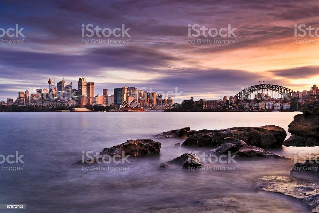Sydney Cremorne 35 mm Stones stock photo