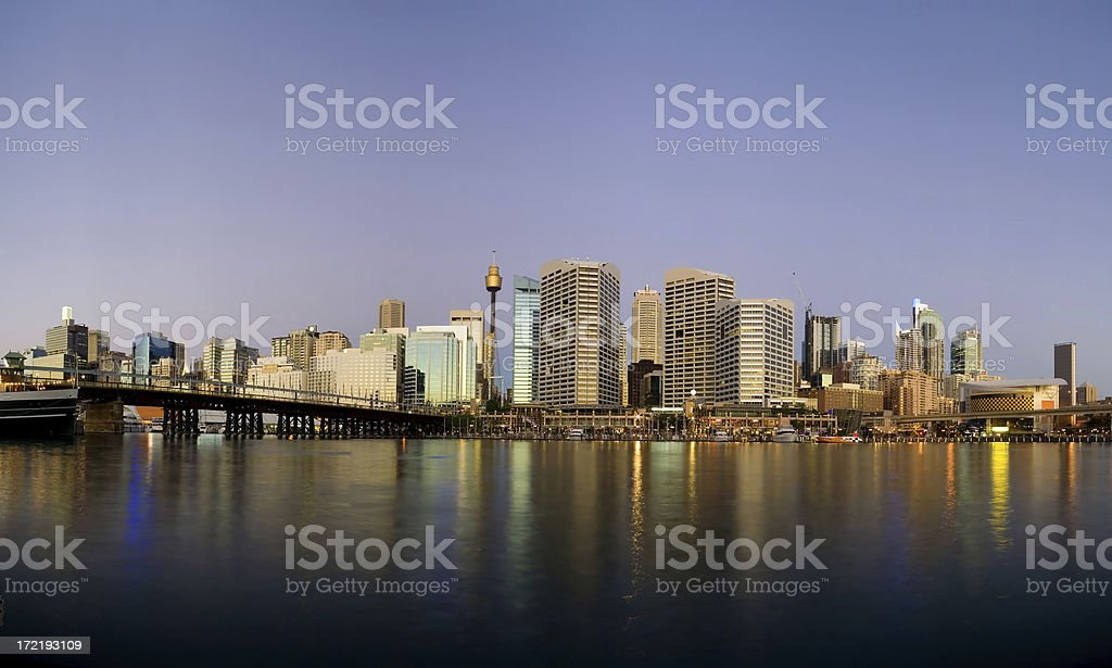 Sydney Darling Harbour sunset royalty-free stock photo