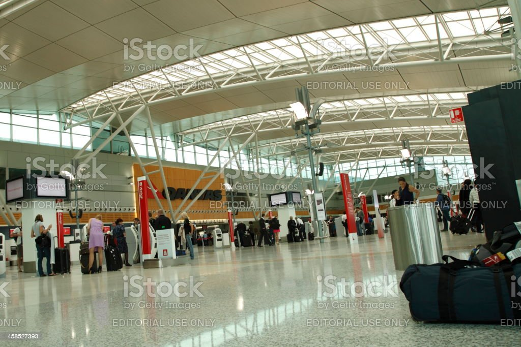 Sydney Domestic Airport Terminal royalty-free stock photo