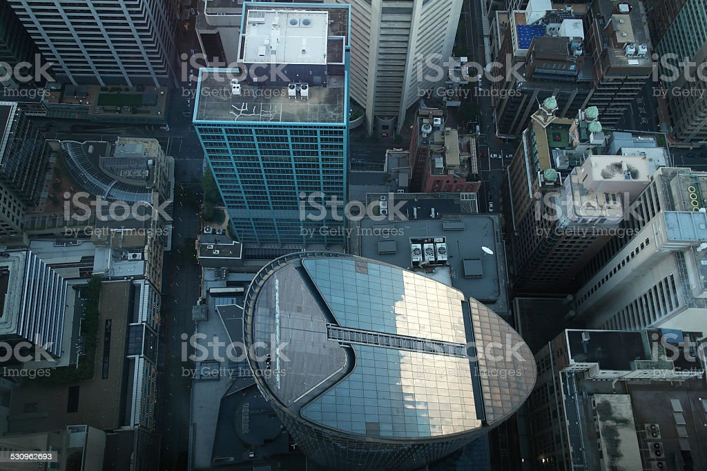 Sydney downtown - aerial perspective stock photo