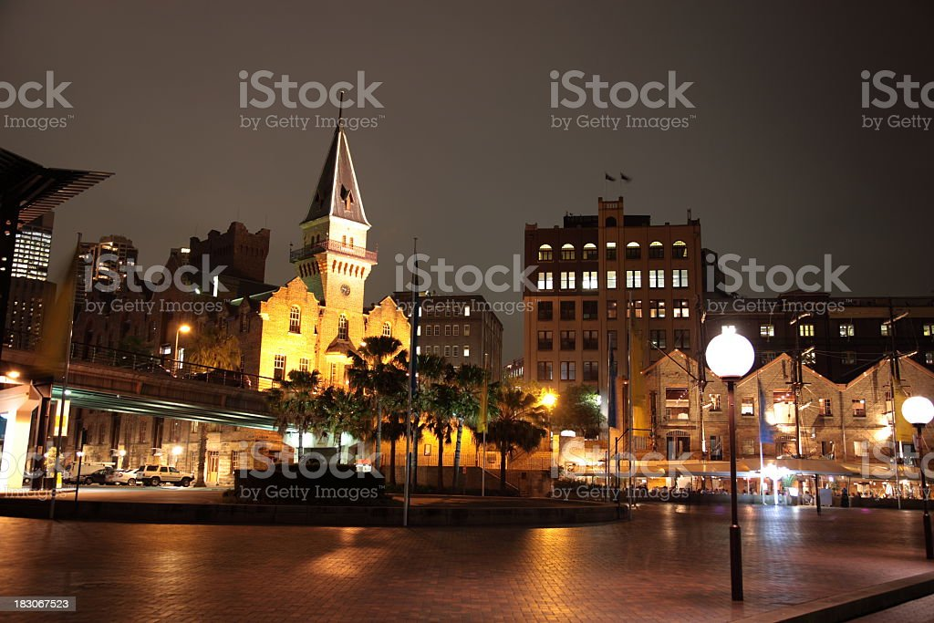 Sydney downtown at night royalty-free stock photo