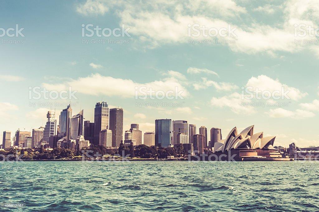 Sydney downtown skyline stock photo