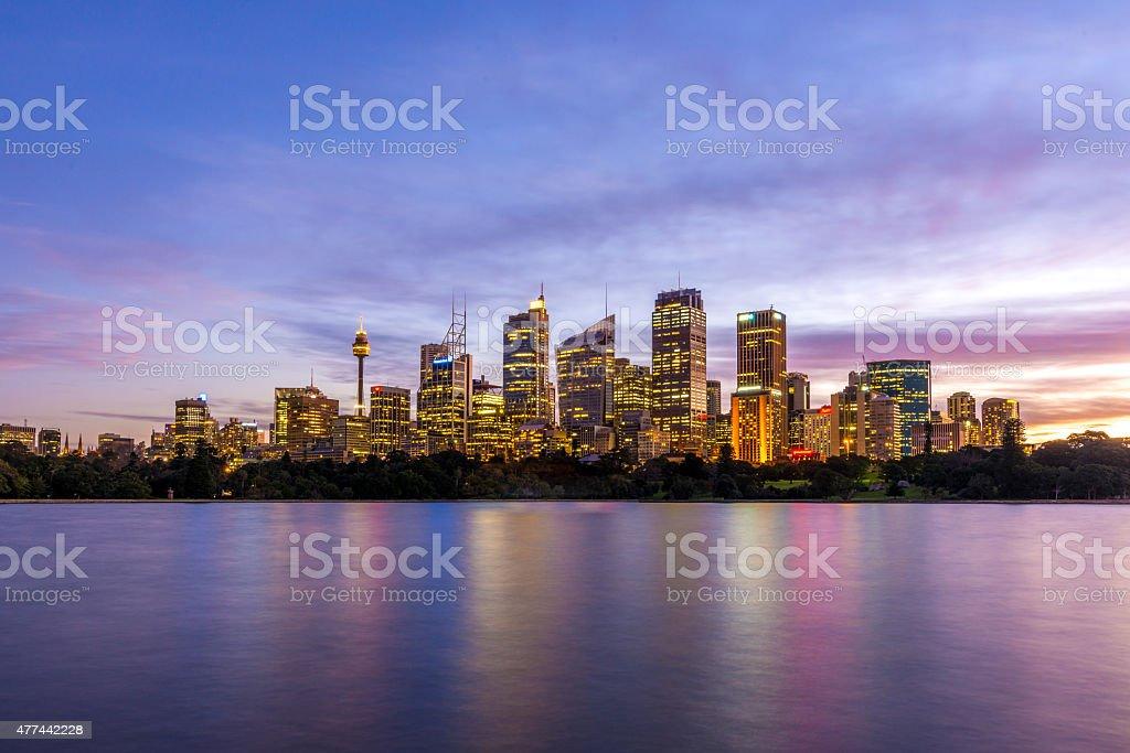 Sydney dusk skyline stock photo