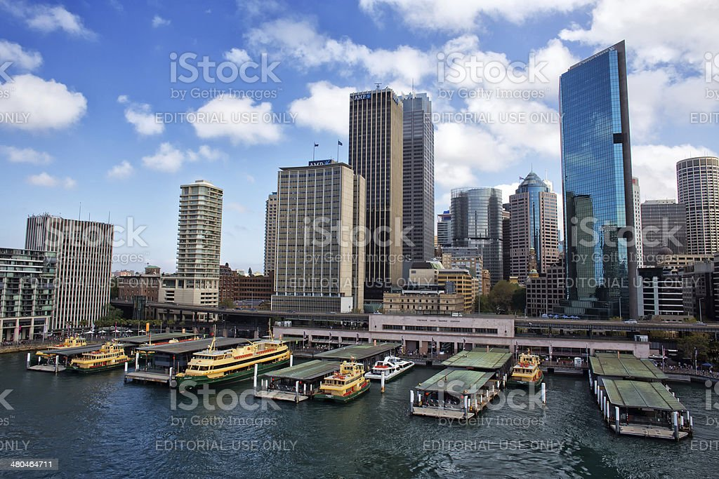 Sydney Ferries await their passengers at Circular Quay. royalty-free stock photo