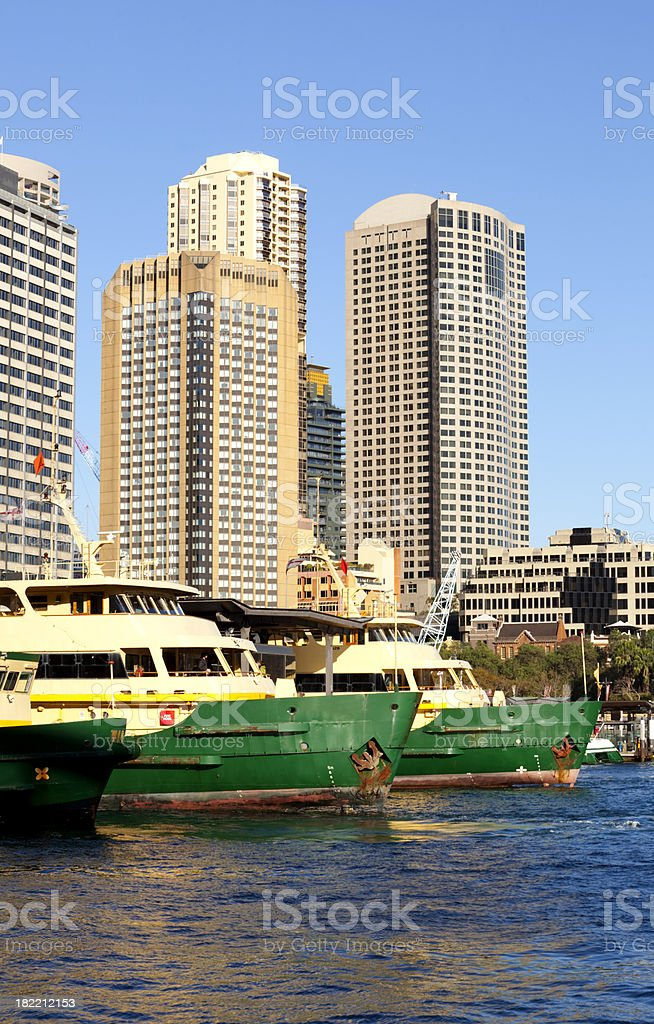 Sydney Ferries Lined Up royalty-free stock photo