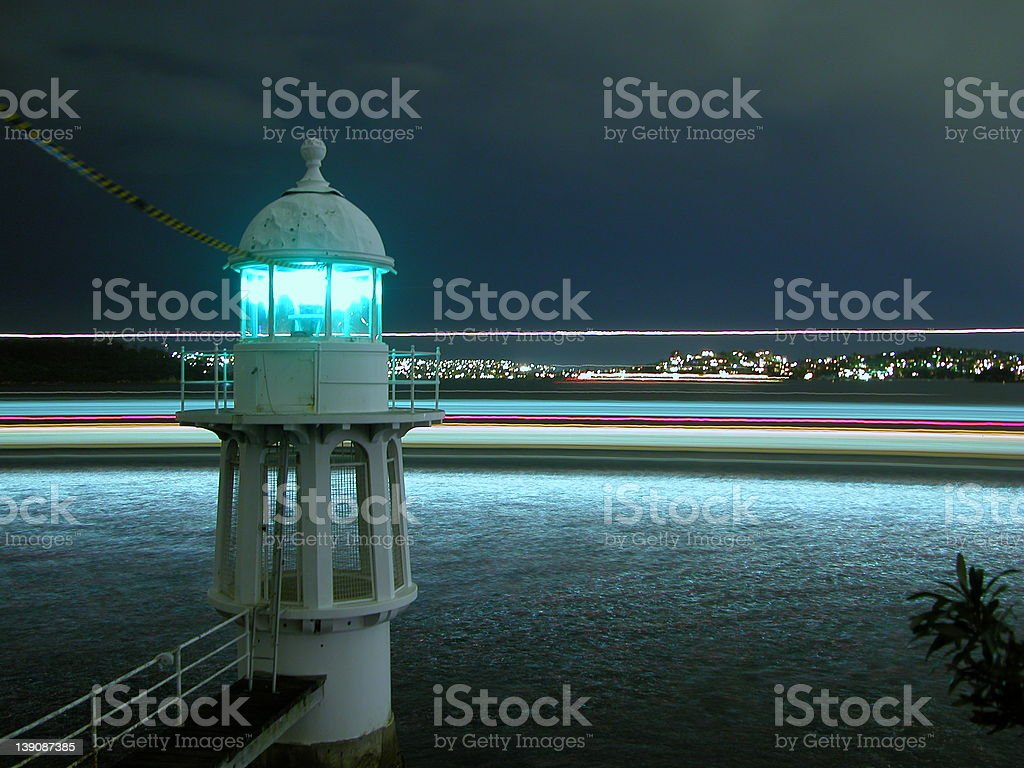 Sydney Ferry Goes Around The Lighthouse royalty-free stock photo