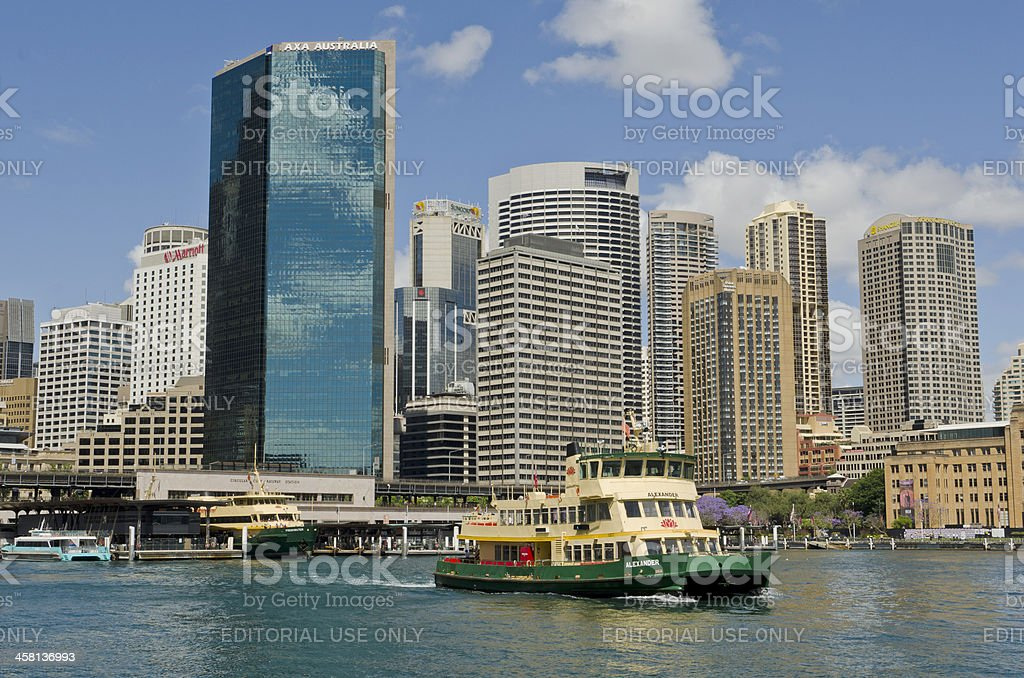 Sydney ferry leaving Circular Quay, Australia royalty-free stock photo