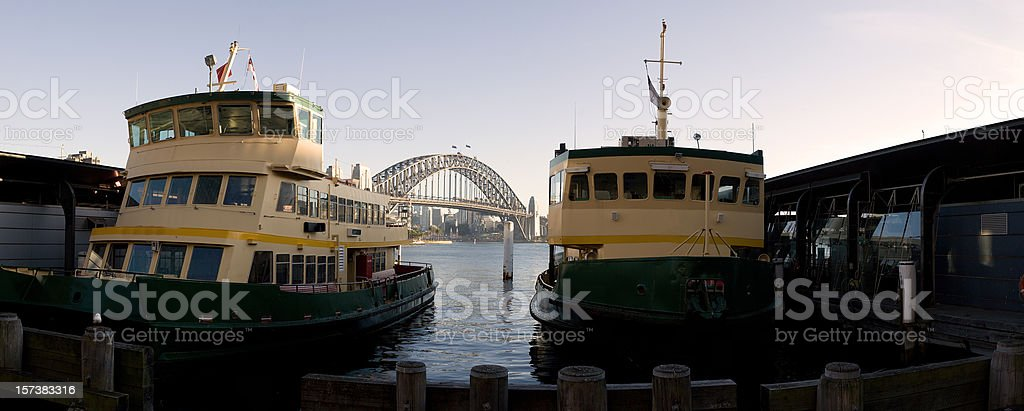 sydney ferry panorama royalty-free stock photo