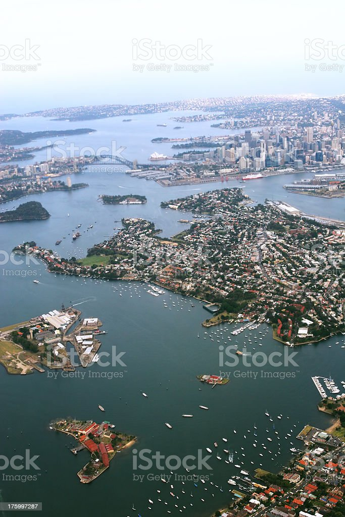 Sydney from above stock photo