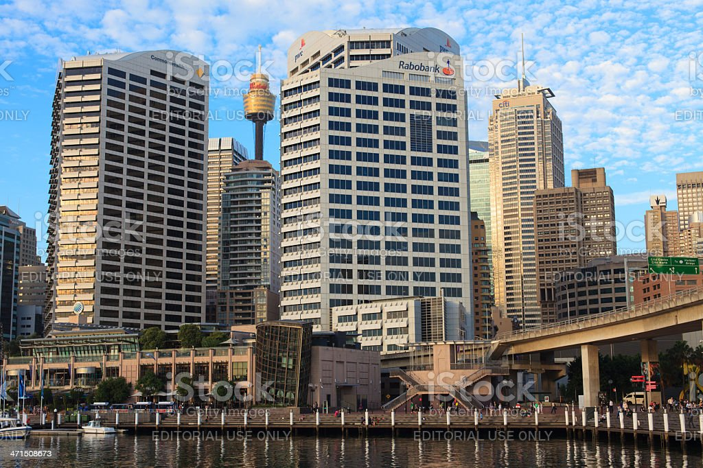 Sydney from Darling Harbour stock photo
