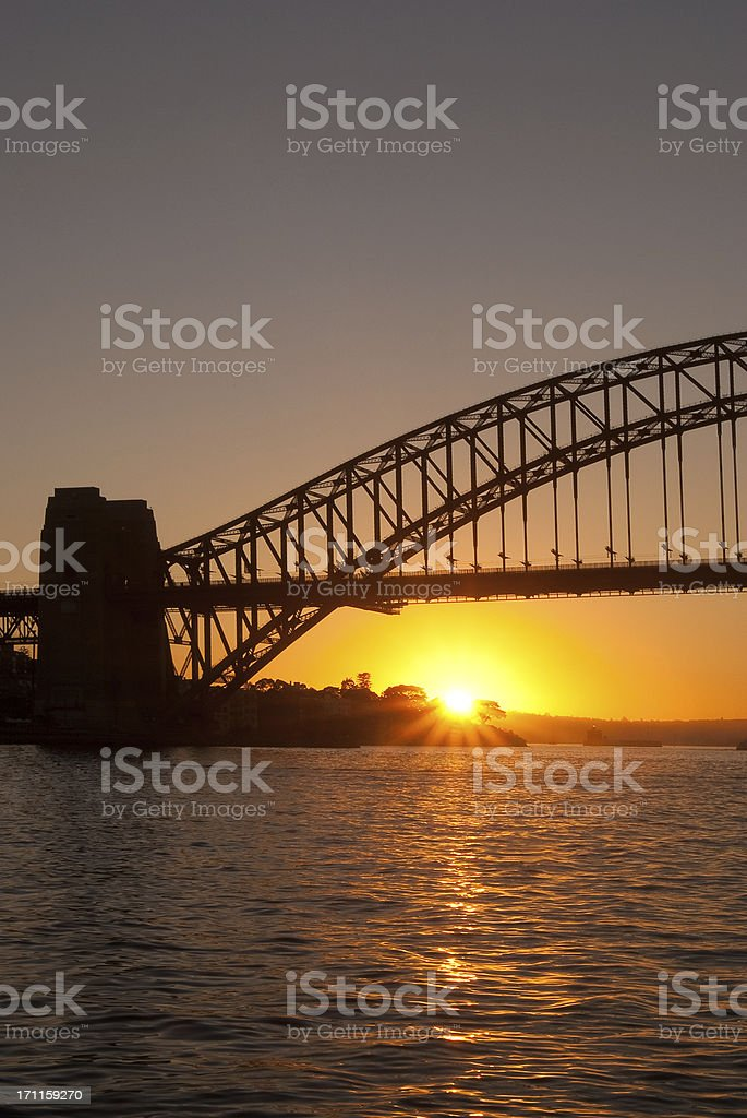 Sydney from McMahons Point - Sunrise royalty-free stock photo