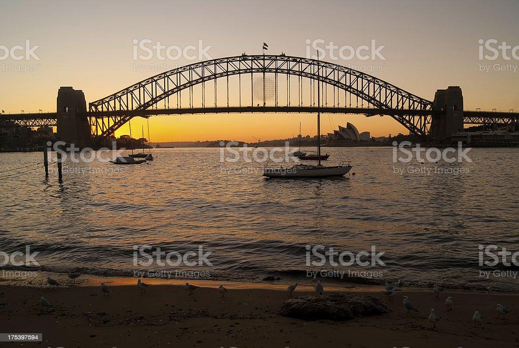 Sydney from McMahons Point - Sunrise royalty-free stock photo