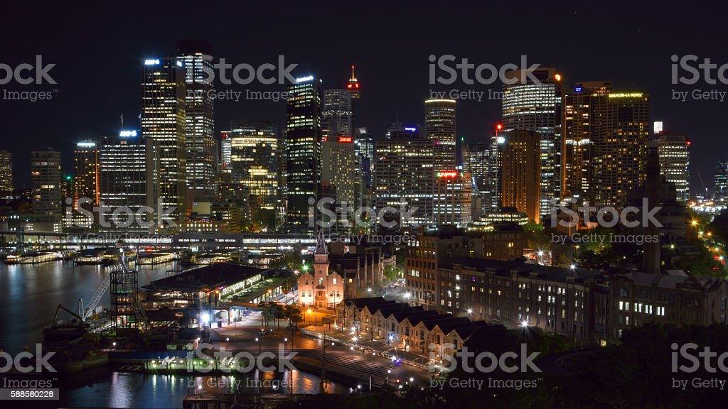 Sydney Hafen, Skyline, The Rocks stock photo