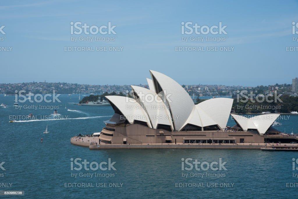 Sydney Harbor and Opera House stock photo
