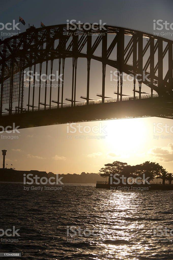 Sydney Harbor bridge at sunset royalty-free stock photo