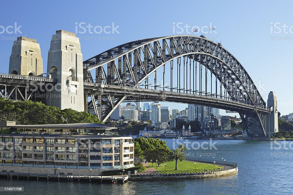 Sydney Harbor Bridge royalty-free stock photo