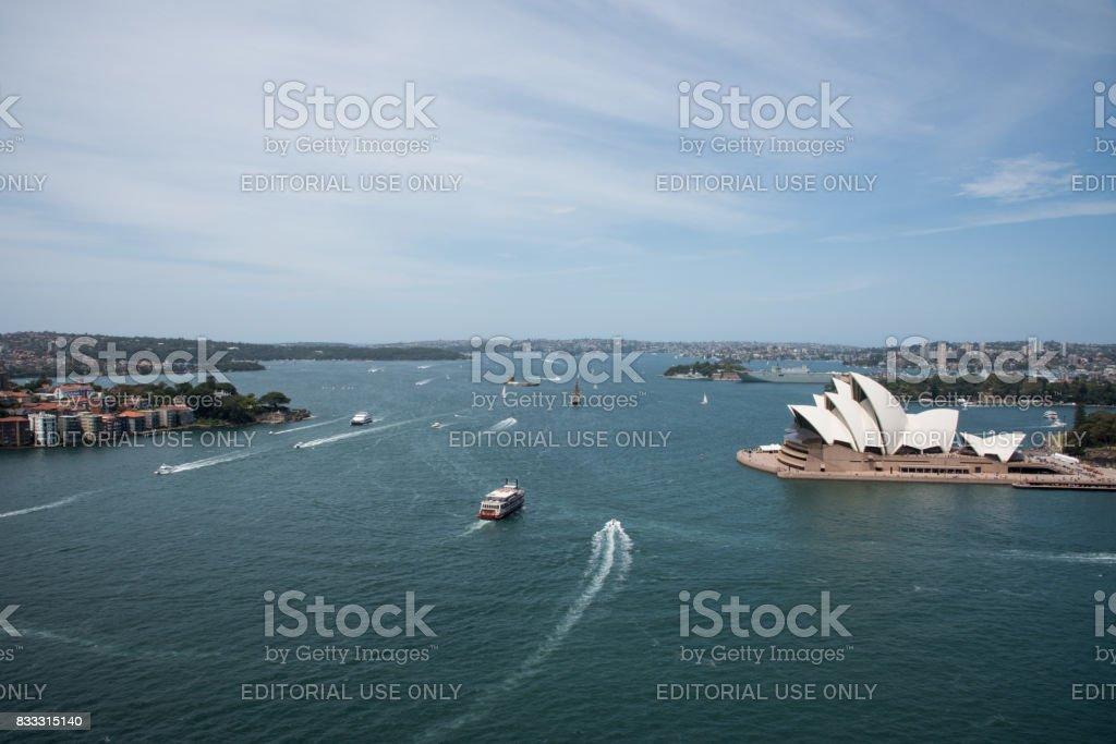 Sydney: Harbor, Opera House and Fort Denison stock photo