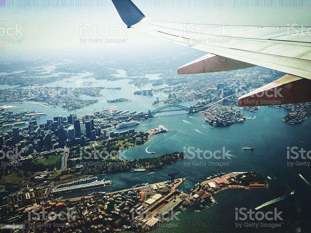 Sydney Harbour Aerial stock photo