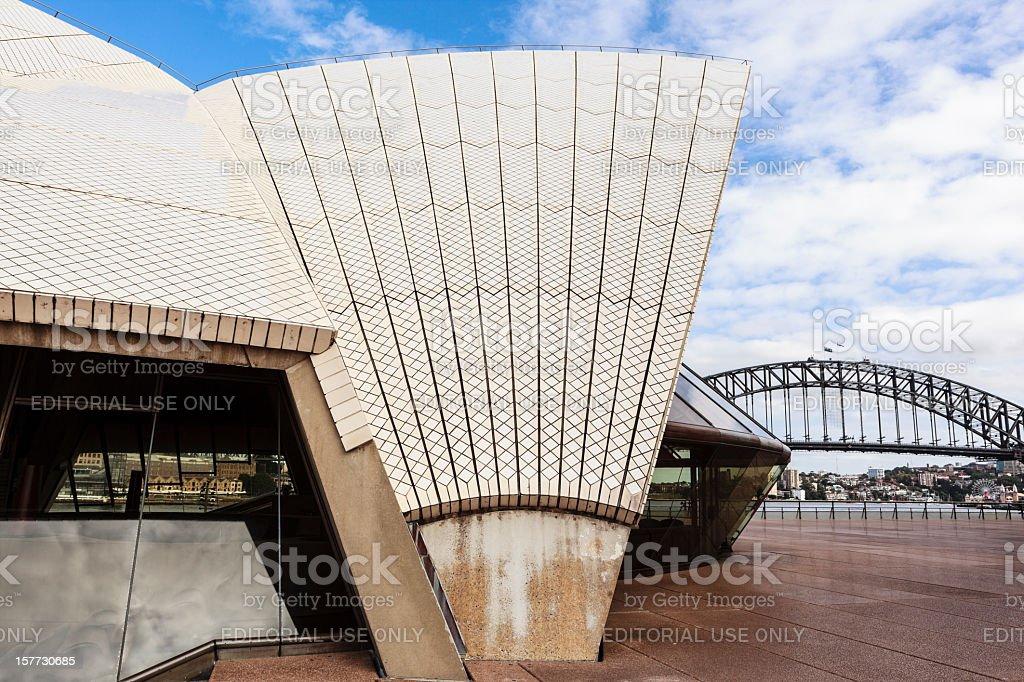 Sydney Harbour & opera house royalty-free stock photo