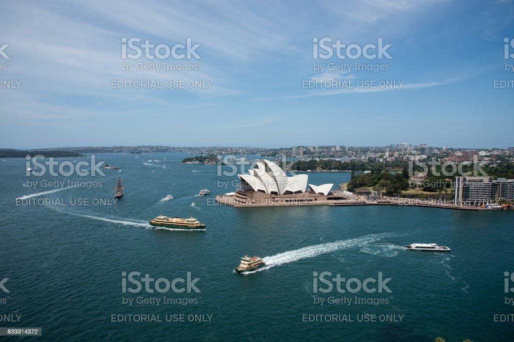 Sydney Harbour and Opera House stock photo