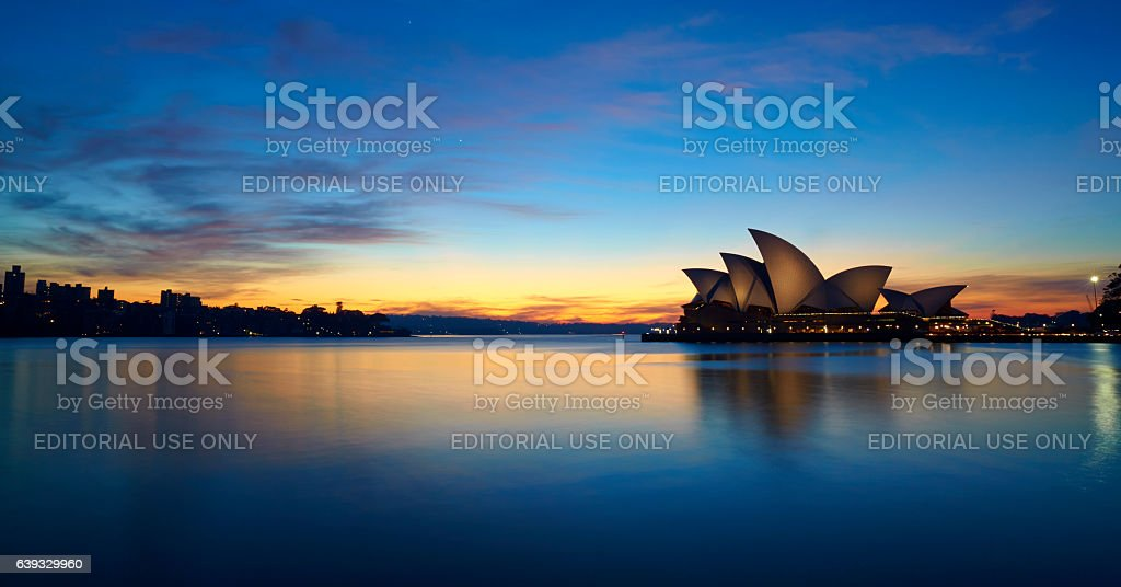 Sydney Harbour At Dawn stock photo