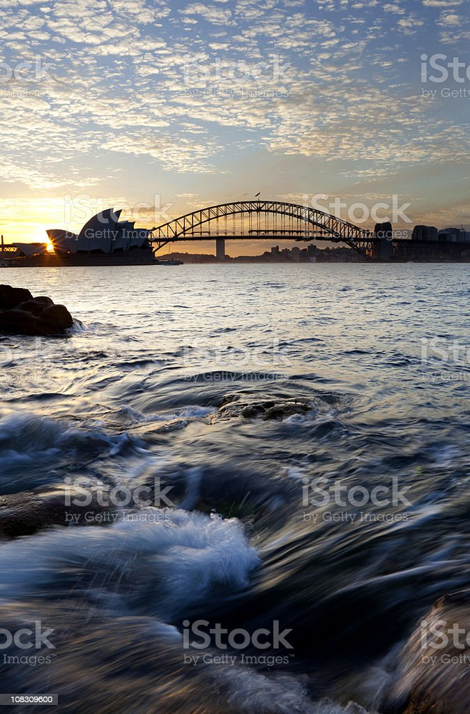 Sydney Harbour At Dusk royalty-free stock photo