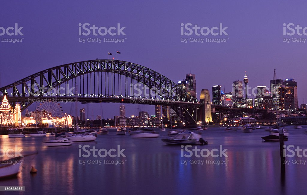 Sydney Harbour at Dusk stock photo